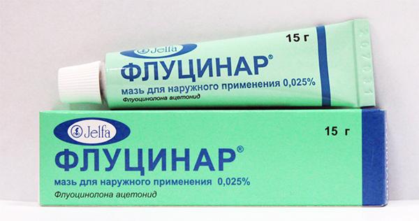 флуцинар при аллергии пятнами у ребенка